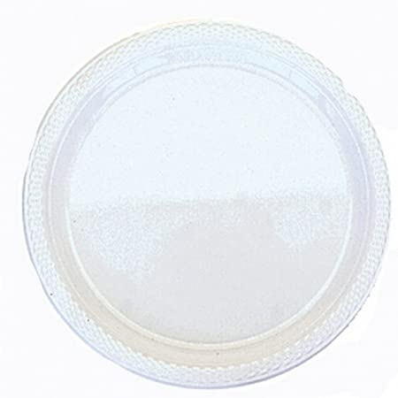 Amscan Plastic Block Colour Plastic Plates (Pack Of 20) (One Size ...