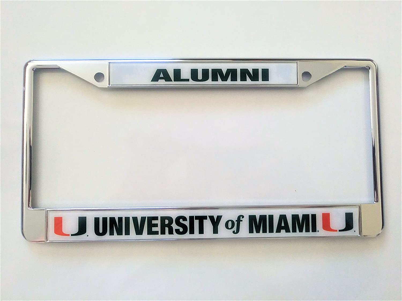 FANMATS  14913  NCAA University of Miami Hurricanes Chrome License Plate Frame
