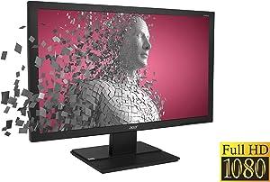 "Acer Display V246HQL, 24"" (23.6"" Viewable Size) 60Hz 1920 x 1080 - FHD 16:9, 3K:1 - Contrast, 5MS GTG - Response, 1x VGA, 1x DVI, W/Tilt Adjustment, Black"