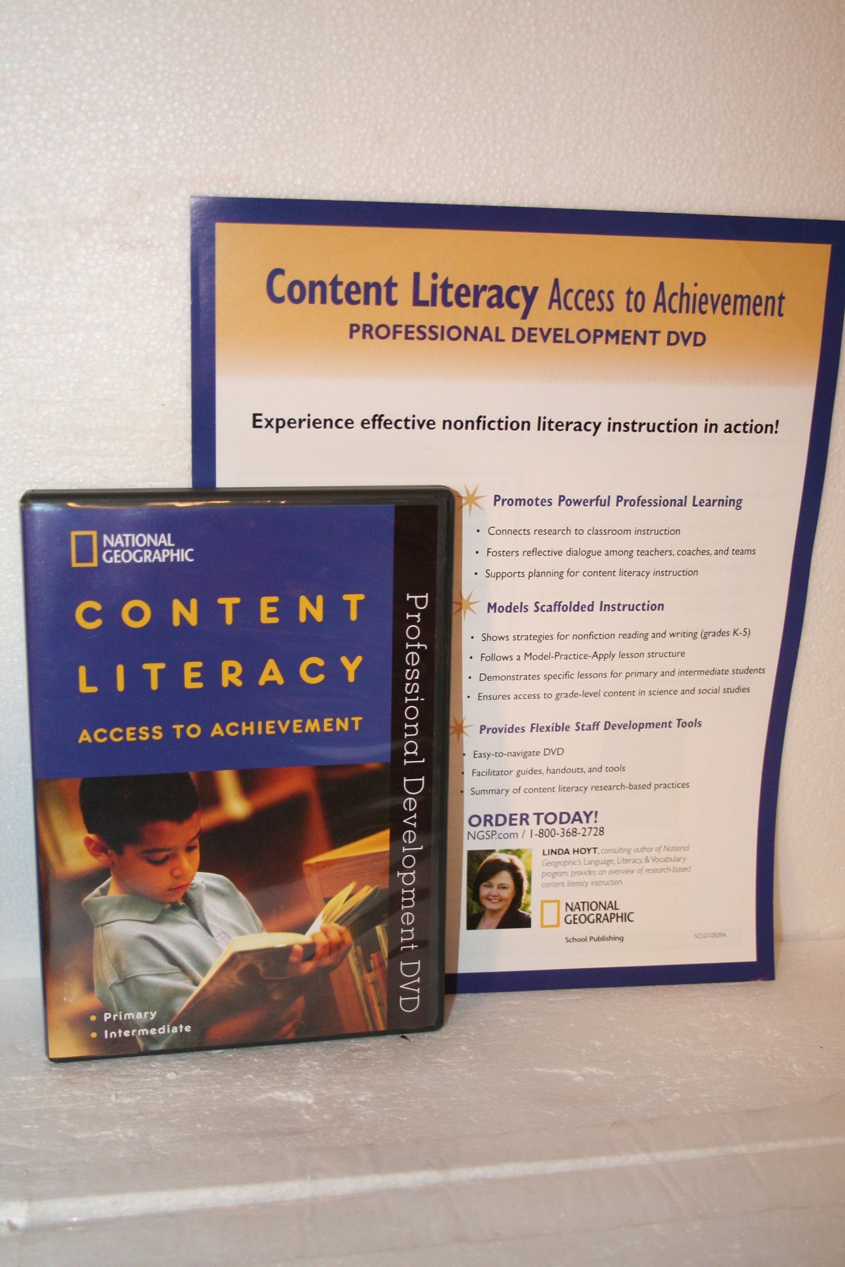 Content Literacy, Access to Achievement Professional Development DVD PDF