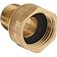 """Dixon BMA974 Brass Fitting, Adapter, 3/4"""" GHT Female x 1/2"""" NPTF Male"""
