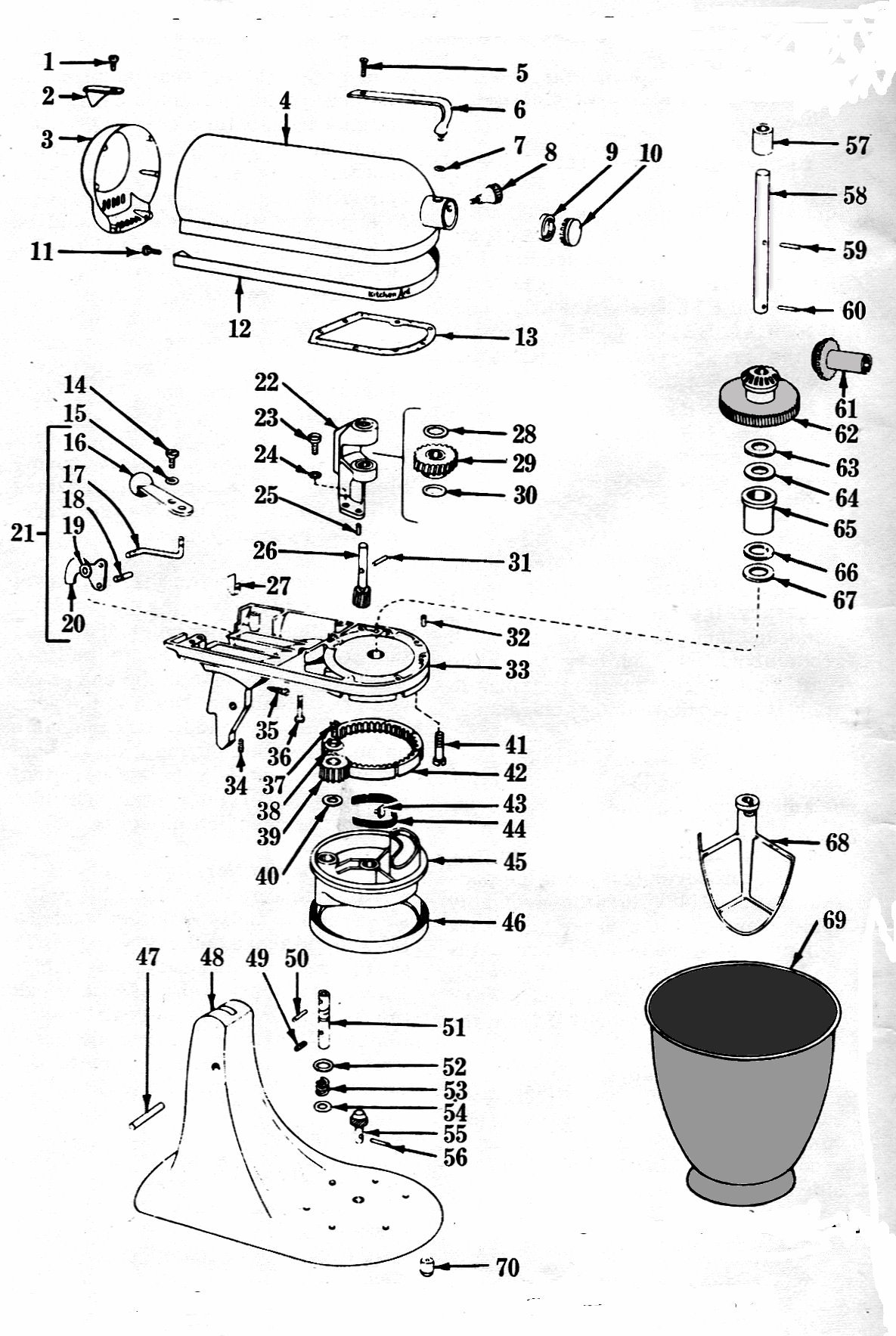 Attractive KitchenAid Food Mixer K4 B Maintenance And Repair Manual: Edited By Irving,  J.F. ATS: Amazon.com: Books