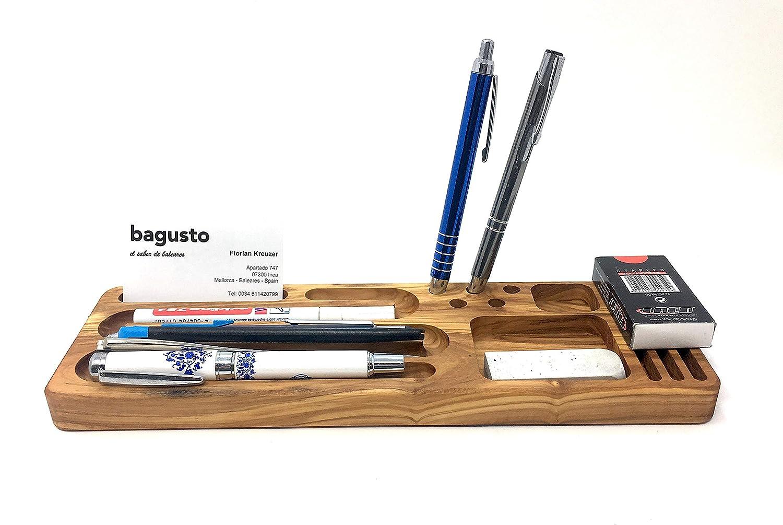 Organizador de mesa de madera de olivo hecho a mano 30x10x2cm en ...
