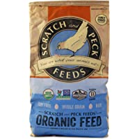 Scratch and Peck Feeds - Naturally Free Organic Layer Feed for Chickens and Ducks - Non-GMO Project Verified, Soy Free and Corn Free - 25-lbs