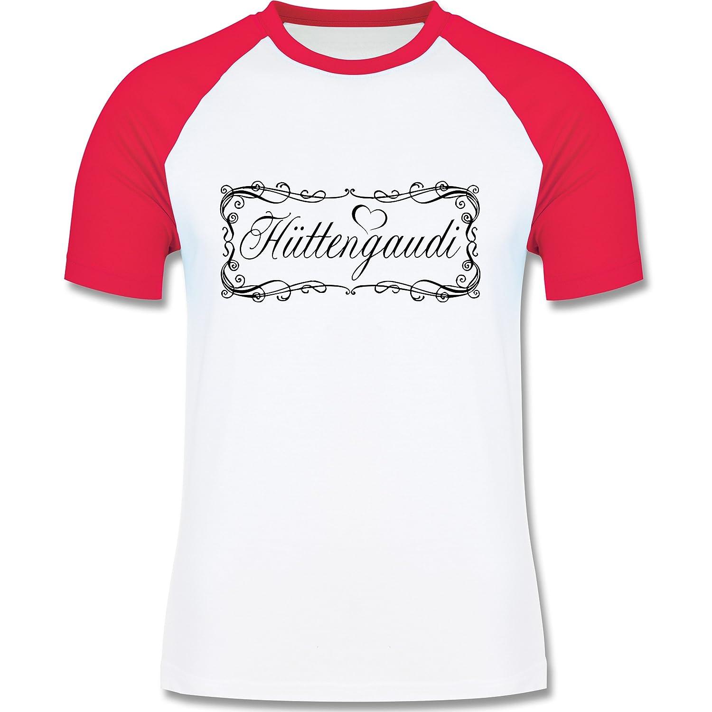 Après Ski - Hüttengaudi Vintage verspielt - zweifarbiges Longsleeve / Baseballshirt für Männer
