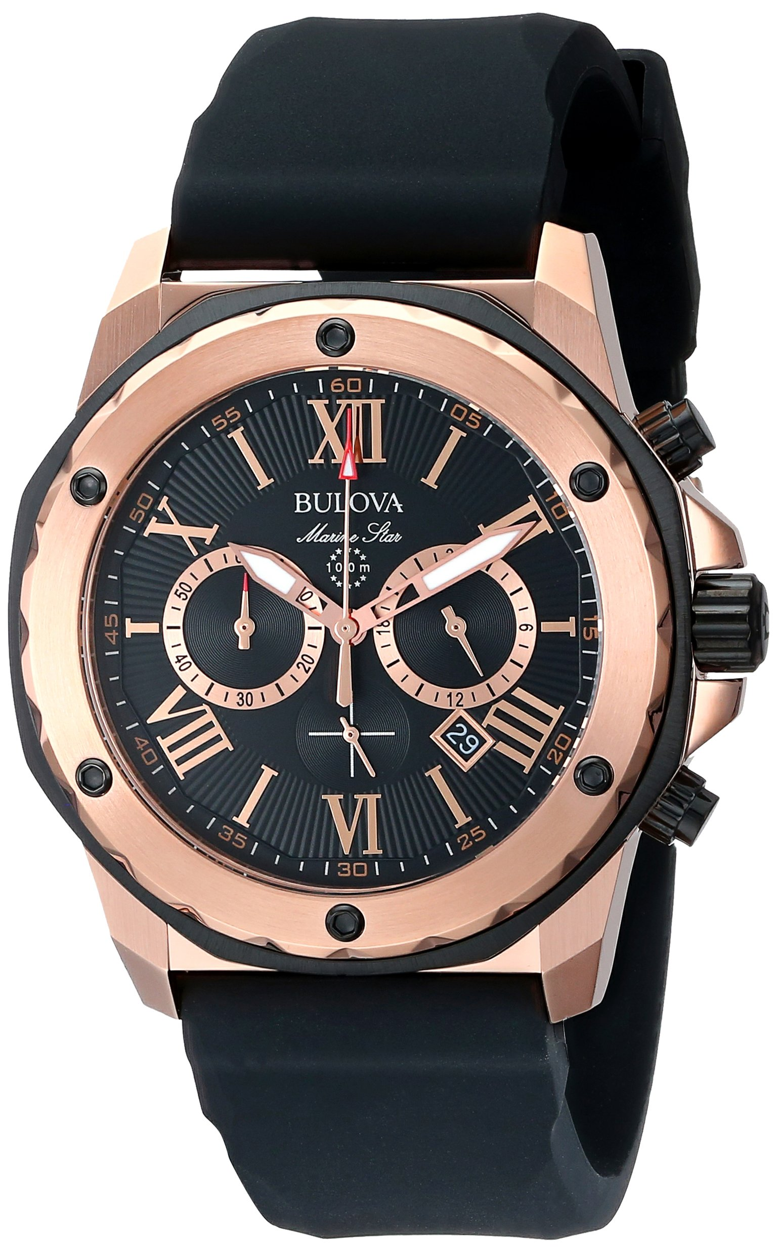 Bulova Men's 98B104 Marine Star Calendar Stainless Steel Dress Watch 6