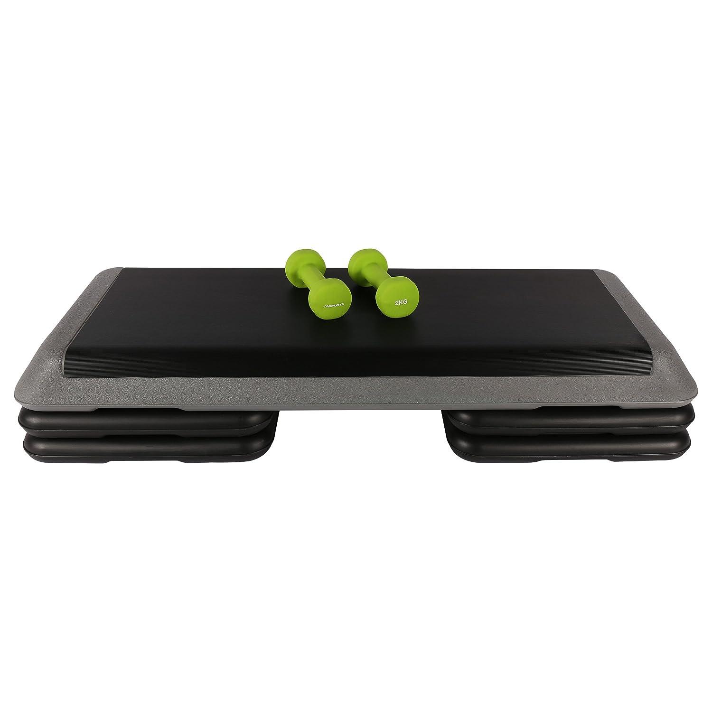 Aerobic Juego con Stepper 110 x 42 cm + 1 Par 2 kg neopreno mancuernas fitness Set: Amazon.es: Deportes y aire libre