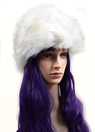 112c2ec356595 Fourever Funky Women s Furry Or Style Pillbox Winter Hat One Size Ivory