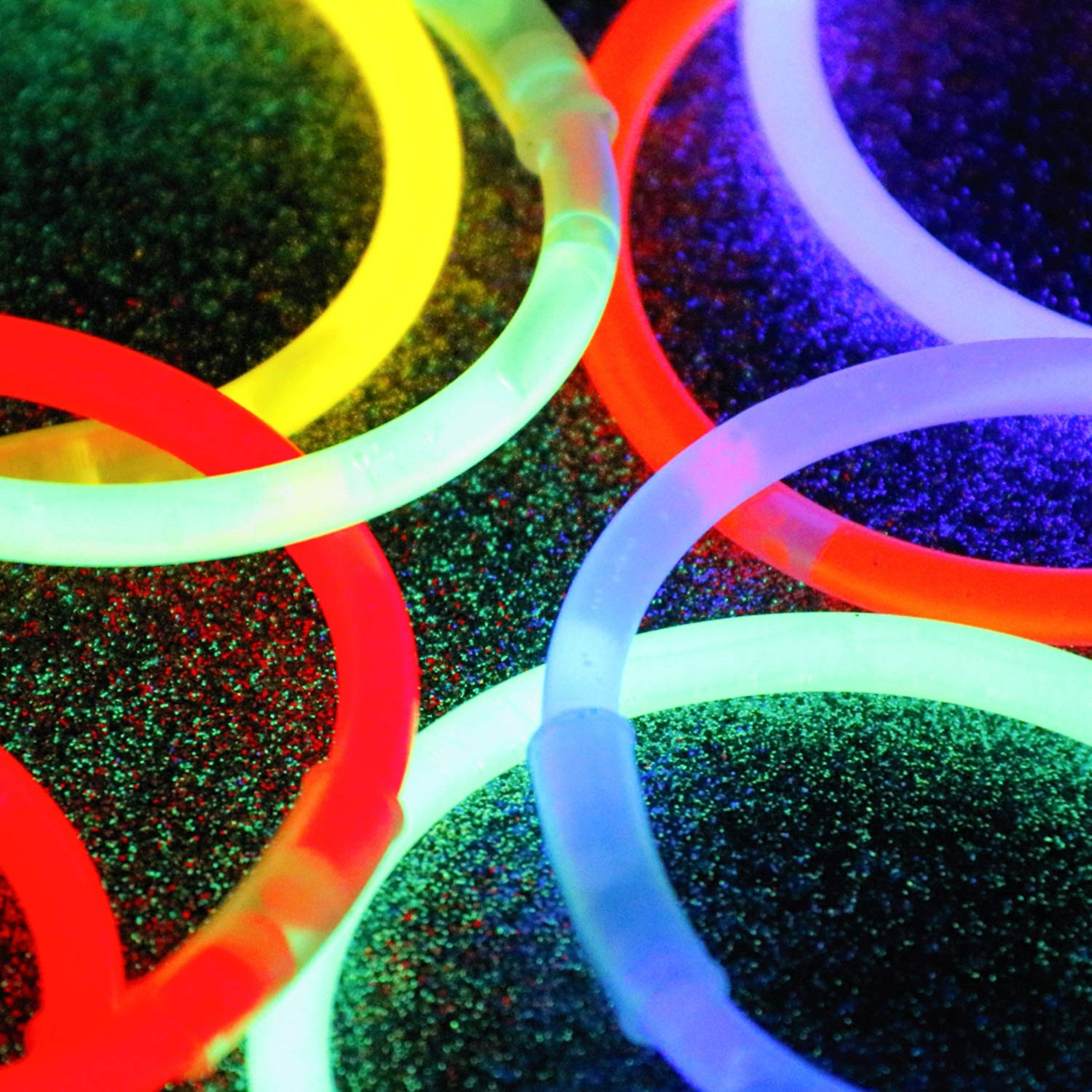 IG Light-Ups 300 Assorted Bracelet Glow Sticks Makes Glow Necklaces Best Non-Candy Halloween Party Favors Premium 8 Inch Glow Sticks Bulk Party Pack