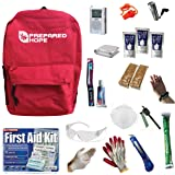 ESSENTIALS Emergency Survival Kit for House Fires, Earthquakes, Hurricanes, Torandoes, Stranded Cars, and Bug-Outs with Backpack