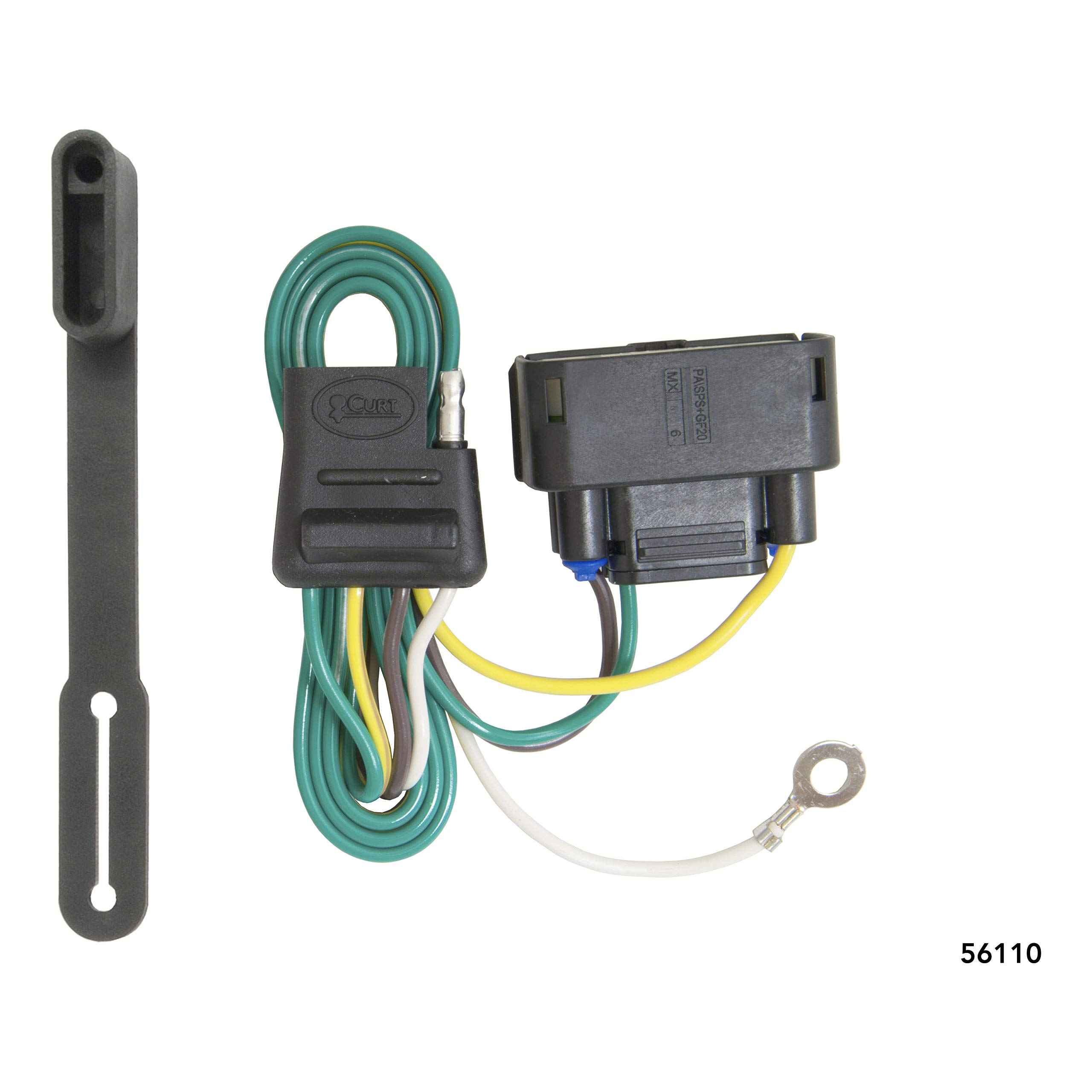 CURT 56110 Vehicle-Side Custom 4-Pin Trailer Wiring Harness for Select Ford F-150 by CURT
