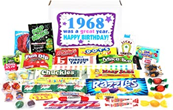 Woodstock Candy 1968 50th Birthday Gift Box