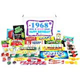 Woodstock Candy 1968 50th Birthday Gift Box - Retro Nostalgic Candy Mix for 50-Year-Old Man or Woman Jr.