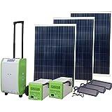 Nature PowerPak 40413 1800-Watt Portable Solar Generator Emergency Kit, for Off-grid, Tailgating, RV, Cabin, Job site,