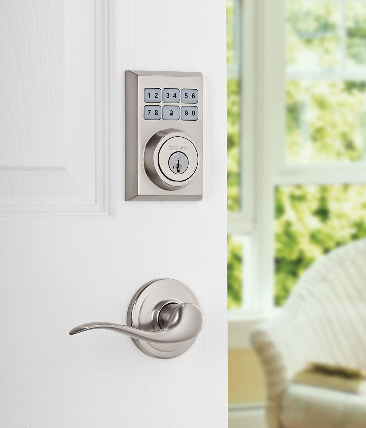 Kwikset 99090-020 SmartCode Electronic Deadbolt featuring Smart Key, Satin Nickel - - Amazon.com