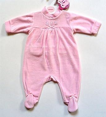 b45eb7350a798 Pyjama dors-bien bébé fille en velours rose (Naissance): Amazon.fr ...