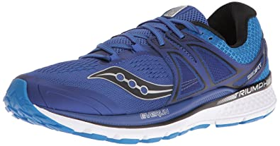 Saucony Men's Triumph ISO 3 Running Shoe, Blue/Sil, ...