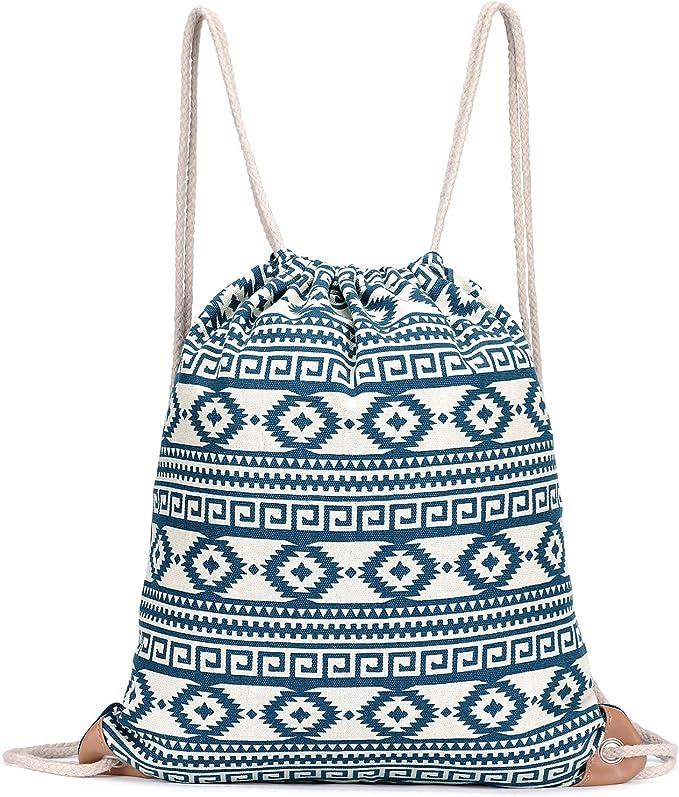 Amazon.com: Bolsa deportiva con cordón, gran mochila ligera ...