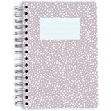 purepaper Bloc-notes – Carnet – spirale Bloc | Bullet Journal | Taupe with Dots, DIN A5, couverture souple gepunktet 120 Blatt