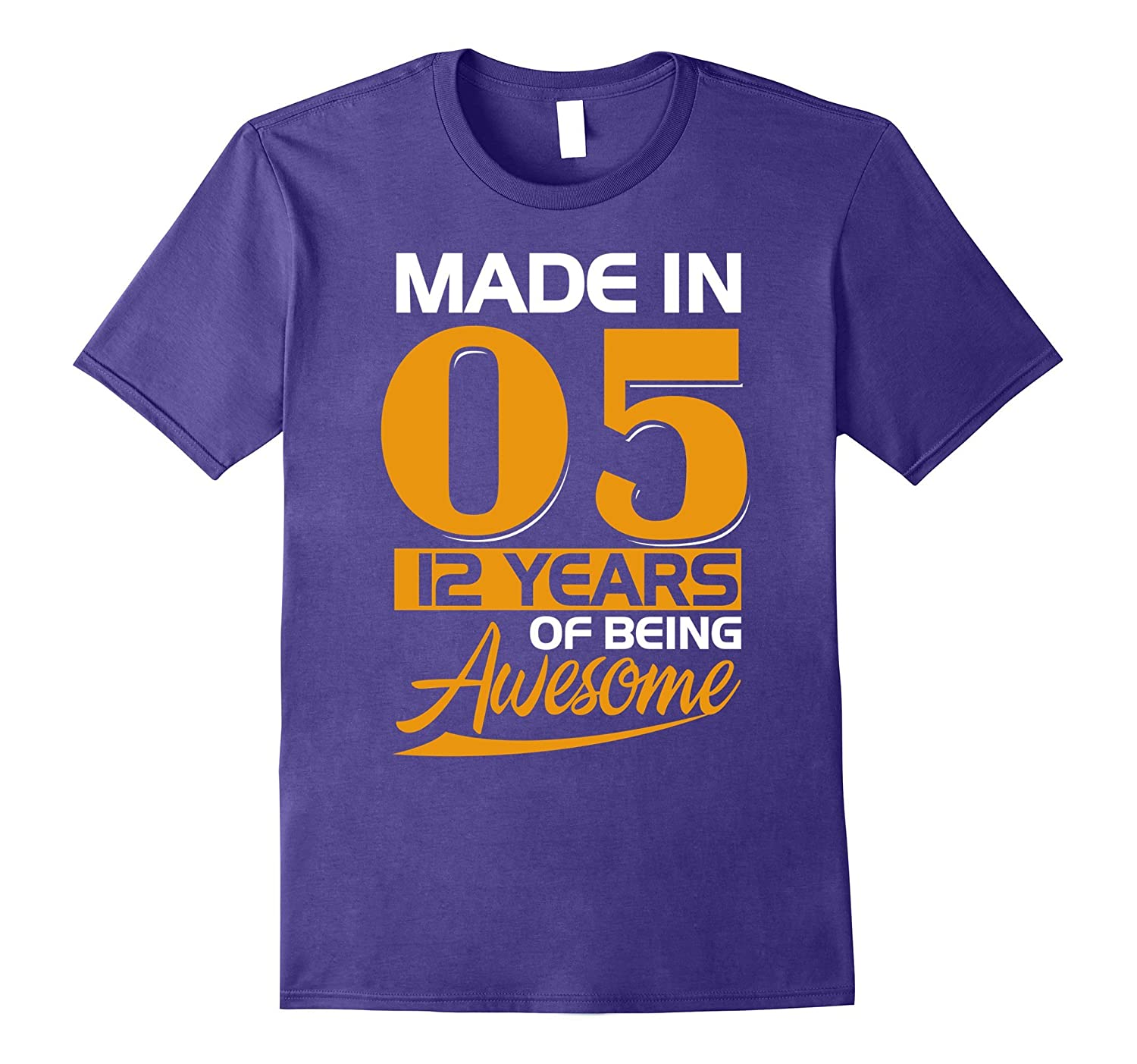 12th Birthday Made In 2005 Tee Shirt-ANZ