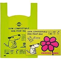 OYEFLY Fuerte y a Prueba de Fugas Biodegradable Bolsas para Caca de Perro Marr/ón Bolsas de Compost para Perros 34 Bolsas Bolsas para excrementos de Perro con 1dispensador