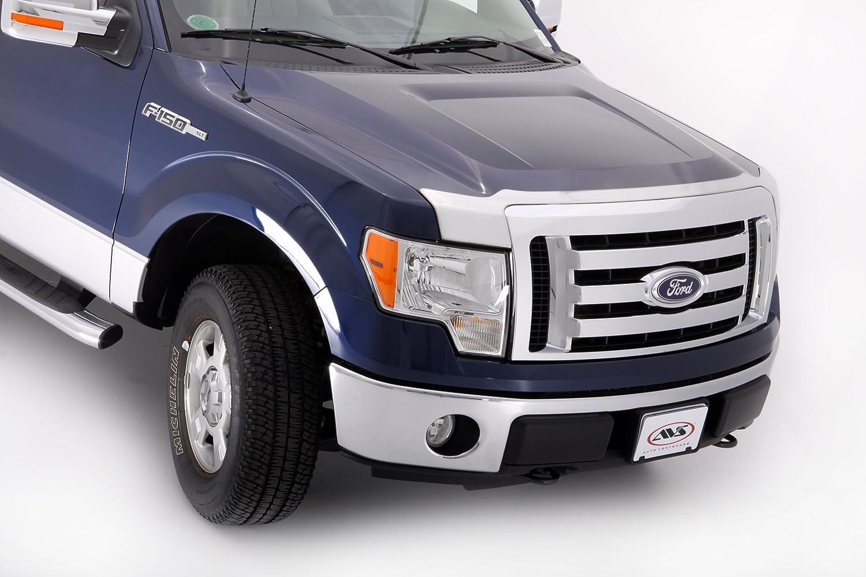 Amazon com auto ventshade 622001 aeroskin large chrome hood shield automotive