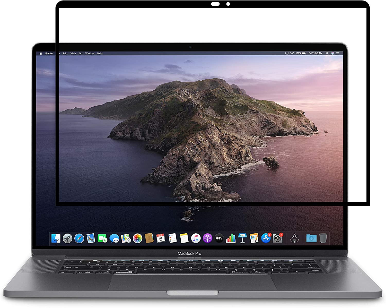 "Moshi iVisor Matte Screen Protector for 15"" MacBook Pro, Anti-Glare, Easy-Installation, Washable & Reusable, Scratch & Fingerprint-Resistant, for MacBook Pro 15"" (2016-2019)"