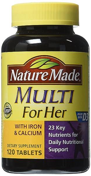 Amazon.com: Multivitamínico Multi For Her con hierro ...