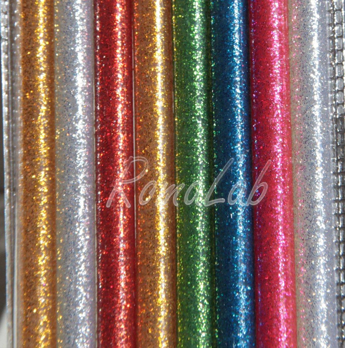 8 STICK DI COLLA PER PISTOLA A CALDO DIAMETRO 7 MM HOT GLUE glitter glitterata RomaLab.it