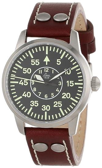 Laco 1925 861587 - Reloj analógico automático para hombre, correa de cuero color negro: Laco: Amazon.es: Relojes