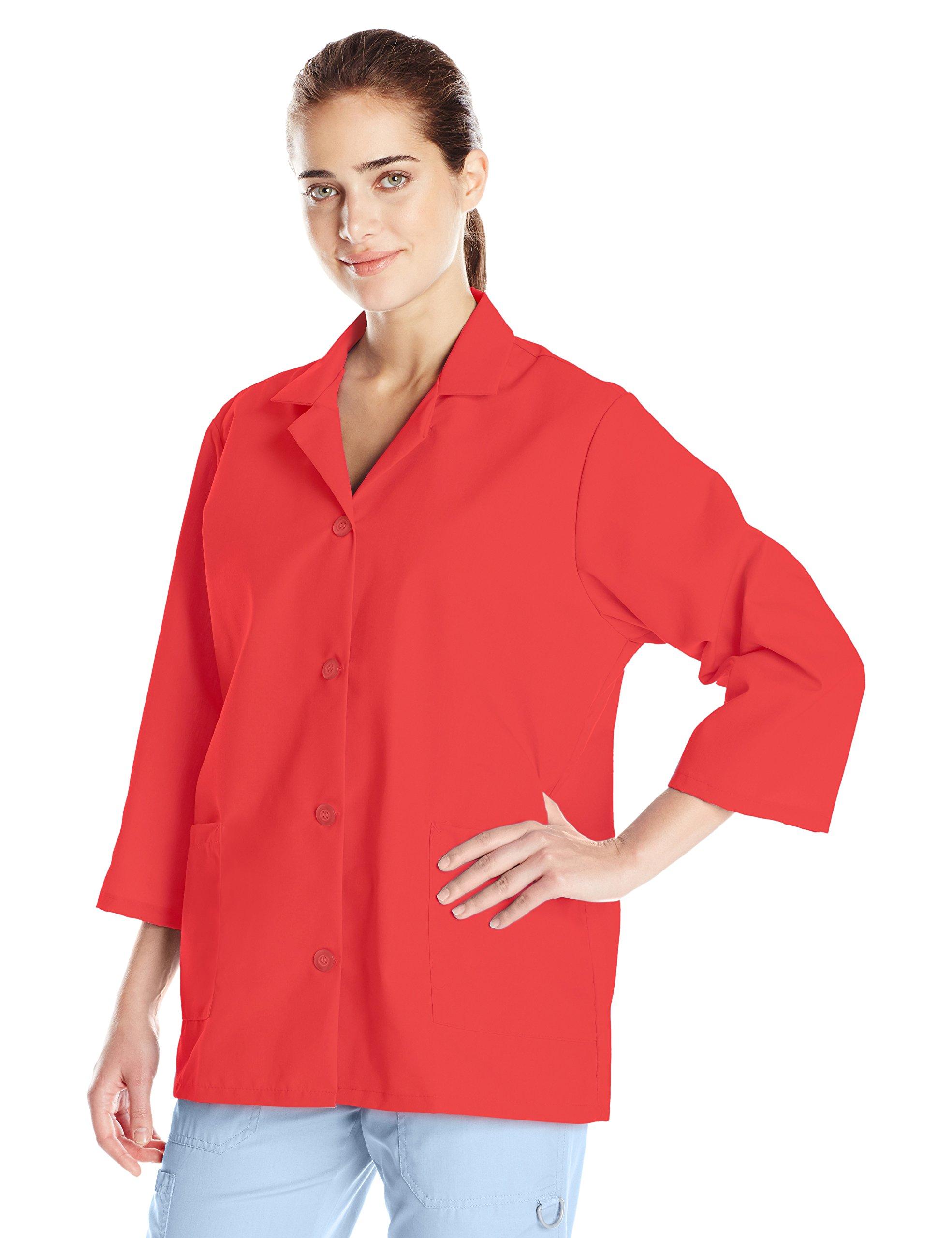 Red Kap Women's Plus Size 3/4 Sleeve Smock, Red, XX-Large