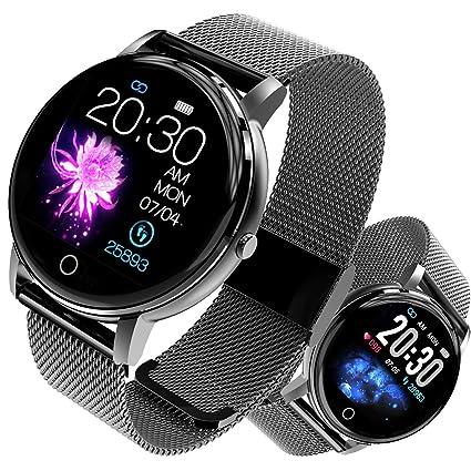 jpantech Smartwatch, Reloj Inteligente Impermeable IP68 con Pulsómetro, Cronómetro, Monitor de sueño,Podómetro,Calendario, Pulsera Actividad para ...