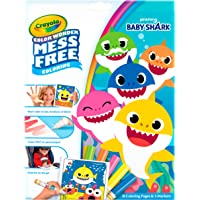 CRAYOLA 757103 Color Wonder Baby Shark Mess Free Colouring Book, Won't Colour on Skin, Fabric or Furniture, Watch Magic…