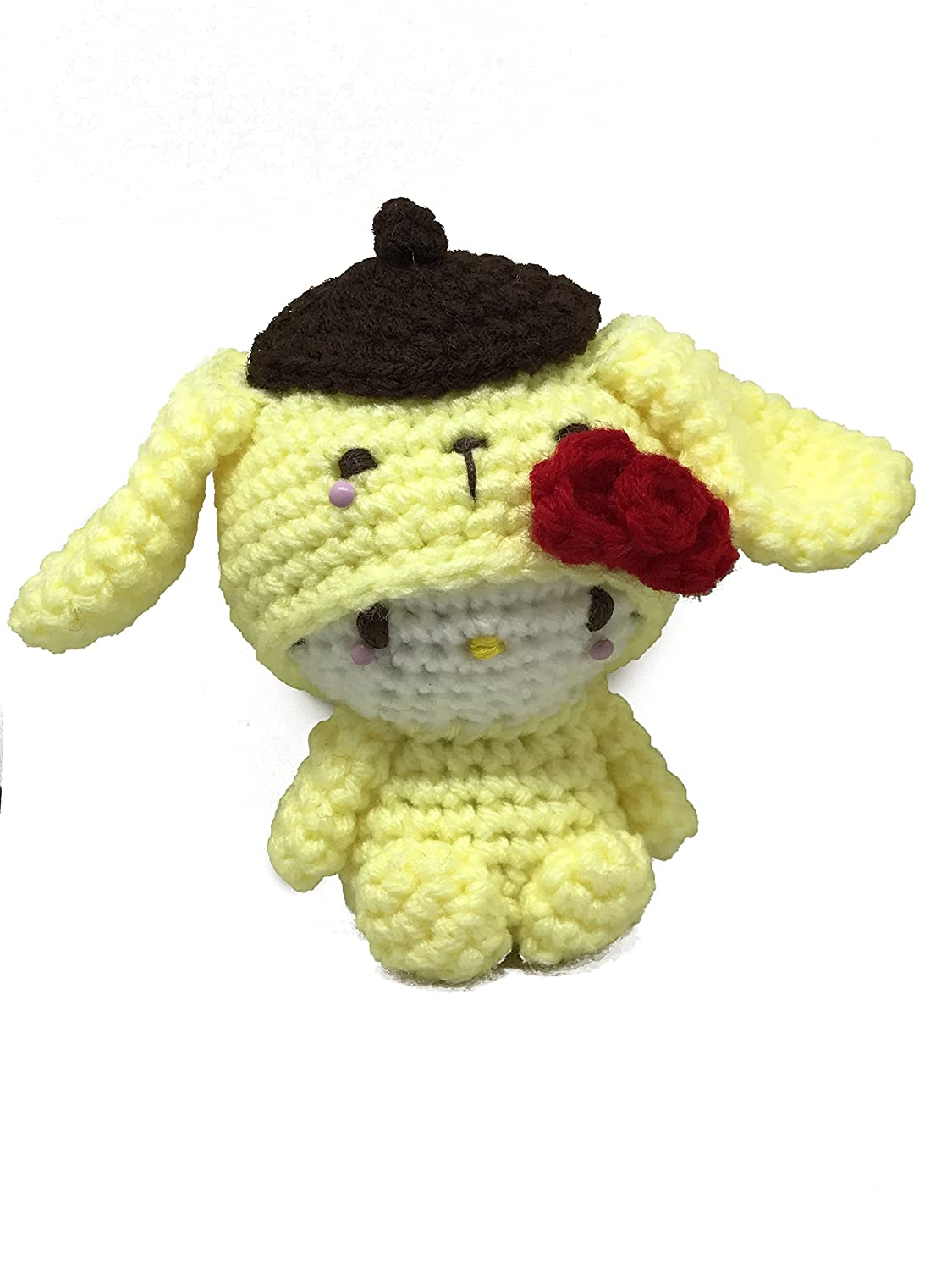 Amazon Crochet Amigurumi Handmade Doll Hello Kitty As Purin