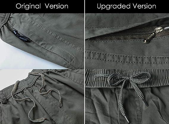 Gmardar Pantaloni Uomo Elegante con Tasche Laterali Zip Elastica Vita Cotone Dritti Larghi Fit Casual Regular Taglie Forti Exlarge Diversi Colori