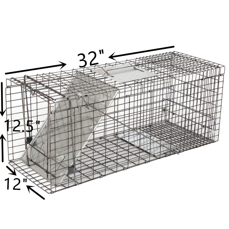 Amazon.com: Oteymart - Jaula de trampa para animales vivos ...