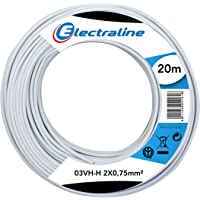 electroline 10674 - Cable 03Vh-H, 2x0.75 mm, 20