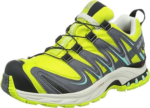 SalomonXA PRO 3D GTX - Zapatillas de Running para Asfalto Mujer, Amarillo (gecko green/artist grey-x/light gre), 40 2/3: Amazon.es: Zapatos y complementos