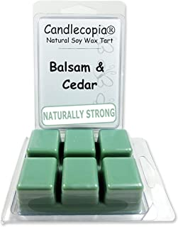 product image for Candlecopia Balsam & Cedar Strongly Scented Hand Poured Vegan Wax Melts, 12 Scented Wax Cubes, 6.4 Ounces in 2 x 6-Packs