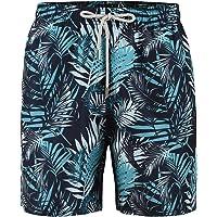 Maui And Sons Traje de Baño para Hombre, Estampado Flores en Color Azul Turquesa, Secado Rápido.
