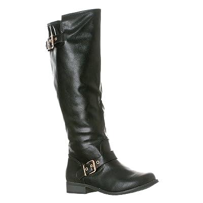 Riverberry Women's Mia Knee-High, Low Heel Riding Boots | Knee-High