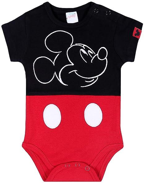 Body Mickey Mouse Disney, Color Negro y Rojo: Amazon.es ...