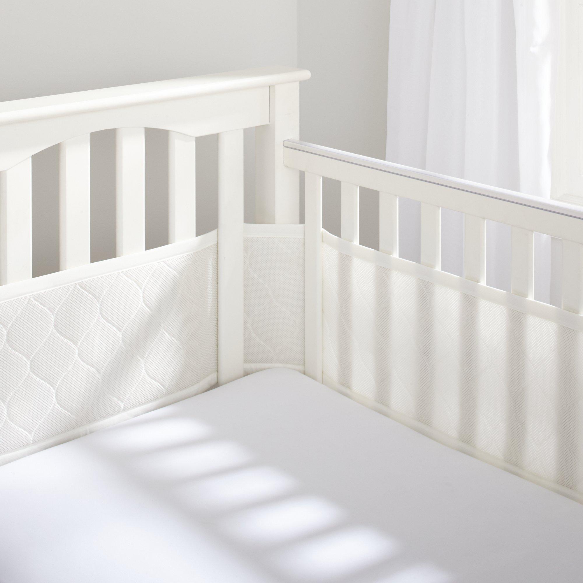 BreathableBaby Deluxe Embossed Mesh Crib Liner, Natural