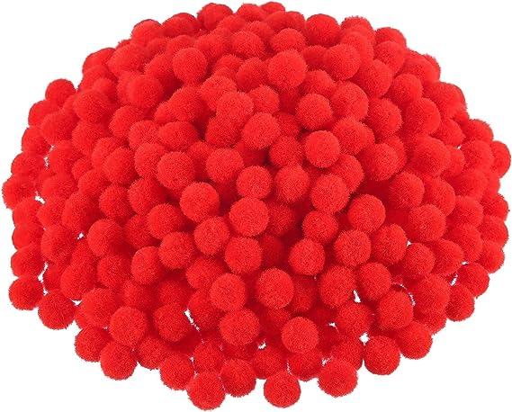 DIY Fabric Tassel Beads \u2013 FB102 6 pcs 21mm Red Green Pink White Deep Blue Pom Pom Fur Round Ball Gold Loop Bead Fabuluxwall