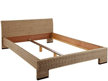 Loft24 Capri Rattan Bett 140x200 Cm Doppelbett Bettgestell