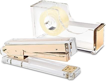 Sunnysam Design Office Colore Oro Rosa Dispenser per Nastro Adesivo da scrivania