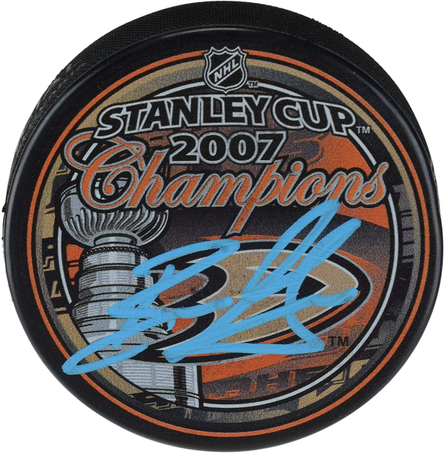 Ryan Getzlaf Anaheim Ducks Autographed 2007 Stanley Cup Champions Logo Hockey Puck - Fanatics Authentic Certified