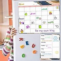 "Dry Erase Fridge Magnetic Calendar - White Board Magnetic Calendar for Refrigerator Wall Home Kitchen Decor, 15""x 11.5…"
