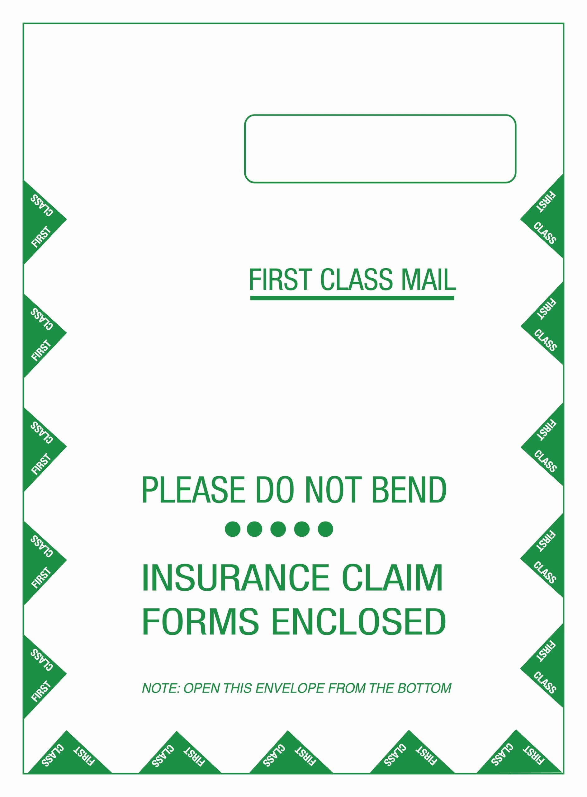 TOPS CMS-1500 Form Self-Seal Window Envelopes, Box of 500 (50992)