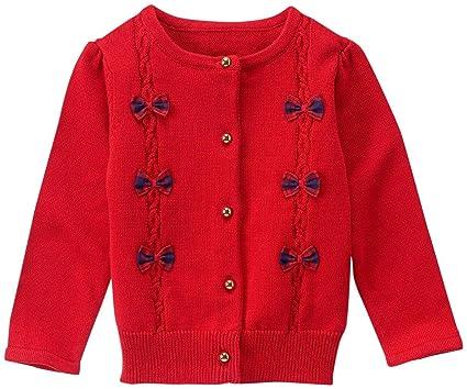 1b5d13dfa92e05 Amazon.com: Janie & Jack Girls' Red Bow Sweater: Clothing